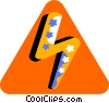 Vector Clip Art graphic  of a zig zag
