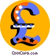 Vector Clip Art graphic  of a currency symbol British pound