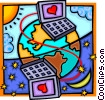 Vector Clipart graphic  of a global communications