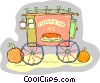 Vector Clip Art image  of a Selling pumpkin pies