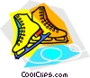 Vector Clipart picture  of a Figure skates