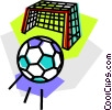 Vector Clip Art graphic  of a Soccer Balls