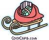 Santa's sleigh Vector Clip Art picture
