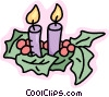 Christmas candles Vector Clipart illustration
