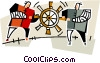 Vector Clip Art image  of a teamwork