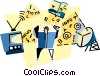 Vector Clip Art image  of a communication