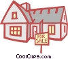 Single family home Vector Clip Art graphic