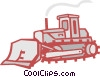 Vector Clipart picture  of a bulldozer