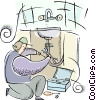 Plumbers Vector Clipart graphic
