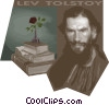 Tolstoy, Leo, Count, Russian novelist philosopher Vector Clipart illustration