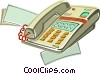 Office phone Vector Clip Art image