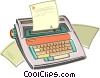 electric typewriter Vector Clip Art picture