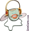 Portable cd player Vector Clipart picture