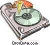 Vector Clipart picture  of a Hard disk drive