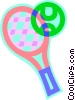 tennis racquet, tennis ball Vector Clip Art picture