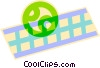 Vector Clip Art graphic  of a tennis ball