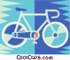 Vector Clip Art image  of a 10 speed bicycle