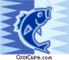 Vector Clip Art image  of a Caught fish