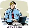 Vector Clip Art image  of a laptop computers