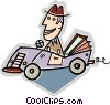 Vector Clip Art graphic  of an automobile