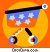 Shopping Baskets and Carts Vector Clipart graphic