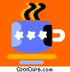 coffee cup and saucer Vector Clip Art picture