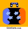 Vector Clipart image  of a Luggage