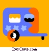 Camp Trailers Vector Clip Art image