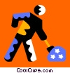 Vector Clip Art image  of a Road Crews