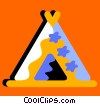 Vector Clipart picture  of a Teepees and Tents
