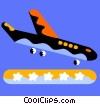Commercial Jets Vector Clipart picture