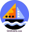 Vector Clipart illustration  of a sailboat