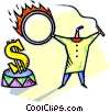 making money work for you Vector Clipart picture