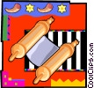 Vector Clipart picture  of a torah