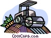 Vector Clip Art image  of a steamroller
