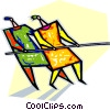 Vector Clip Art image  of a Tug-o-war