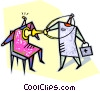 doctor examining a patient Vector Clipart illustration
