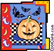 Vector Clip Art image  of a Halloween montage
