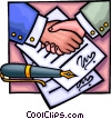 Vector Clipart graphic  of a Business Contracts
