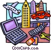 travel motif Vector Clipart graphic