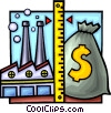 Vector Clipart illustration  of a Measuring financial success