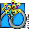 Vector Clipart graphic  of a Fibre optic cable