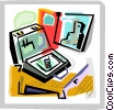 Briefcases Vector Clipart graphic