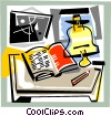 Vector Clipart image  of a Books and Projects