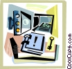 Vaults and Safes Vector Clipart illustration