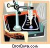 test tubes and beakers Vector Clip Art graphic