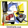 Vector Clip Art image  of a Office desktop theme
