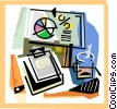 Vector Clip Art graphic  of a office motif