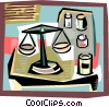 Vector Clipart graphic  of a Pharmacology