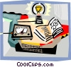 Vector Clip Art picture  of a Books and Projects